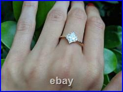 0.50CT Marquise Cut Diamond Vintage Engagement Wedding Ring 14K Yellow Gold Over