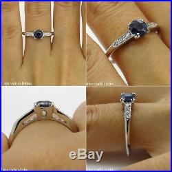 0.80ct Antique Vintage Deco Sapphire Diamond Engagement Wedding Ring Platinum