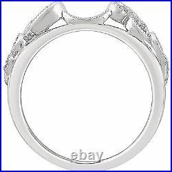 14K White Gold Real Diamond Ring Enhancer Vintage Antique Bridal Anniversary