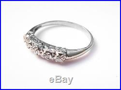 14K gold vintage antique diamond wedding ring set from the 1920s