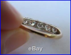 14k 1 Ct Antique Vintage Vs Diamond Eternity Wedding Band Anniversary Ring Wow