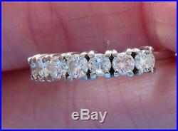 14k Vintage 1.05 Carat Diamond Wedding Band Anniversary Eternity Art Deco Ring