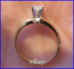 14k Vintage Heart Cut Diamond Engagement Wedding Ring Set Gorgeous Romantic Wow