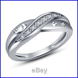 14k White Gold Wedding vintage Women's Band Engagement Ring Free Shipping