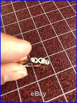 14k Yellow Gold Diamond Wedding 2 Ring Bridal Set Engagement Vintage size 6