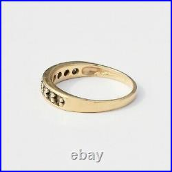 14k Yellow Gold Vintage Diamond. 23 tcw Wedding Band/Ring Size 7.75