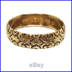 1885 Victorian Antique Wedding Ring, Vintage 18ct Gold Band SEE VIDEO
