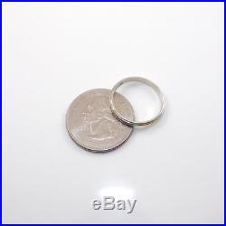 18K White Gold Vintage Antique Art Deco Wedding Band Ring Size 7 LDC3