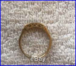 1920 Art Deco Diamond Wedding Engagement Ring Antique 14k Gold Platinum Vintage