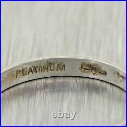 1920's Antique Art Deco Platinum Engraved Wedding Band Ring