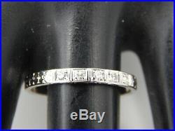 1925 ART DECO Period Handmade Wedding Band Platinum Diamond. 10 tcw Vintage
