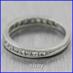 1927 Antique Art Deco Platinum 0.50ctw Diamond Wedding Band Ring