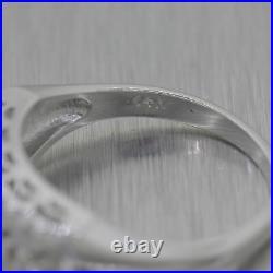 1930's Antique Art Deco 14k White Gold 0.20ctw Diamond Wedding Band Ring
