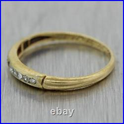 1930's Antique Art Deco 18k Yellow Gold 0.10ctw Diamond Wedding Band Ring