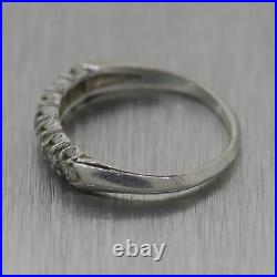 1930's Antique Art Deco Platinum 0.15ctw Diamond Wedding Band Ring