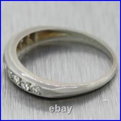 1940's Antique Art Deco Platinum 0.50ctw Diamond Wedding Band Ring