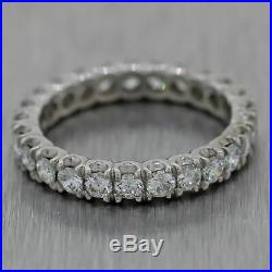 1940's Vintage Estate Platinum 1.75ctw Diamond Eternity Wedding Band Ring
