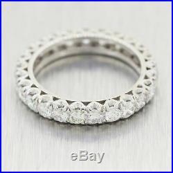 1950's Vintage Estate Platinum 2.50ctw Diamond Eternity Wedding Band Ring