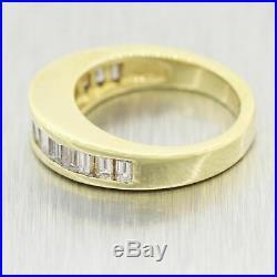 1980's Vintage Estate 14k Yellow Gold Baguette 1.00ctw Diamond Wedding Band Ring