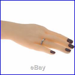 1.00CTW Round Baguette Cut Diamond Wedding Band Ring Vintage Art Deco 14k Gold
