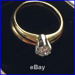 1/3 carat diamond & Band Vintage Wedding Engagement ring