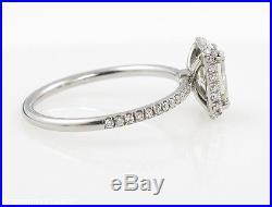 1.49ct Estate Vintage Radiant Diamond Engagement Wedding Ring Egl Pla Halo Video
