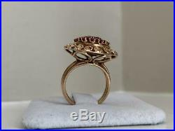 1.50Ct Round Cut Ruby Antique Vintage Engagement Ring 14K Rose Gold Finish