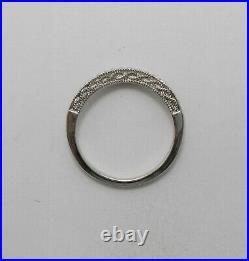 1/5CT Diamond Contour Vintage Style Anniversary Wedding Band Ring 14K White Gold