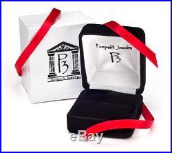 1 5/8ct Natural Diamond Anniversary Wedding Ring Vintage Style 14K White Gold
