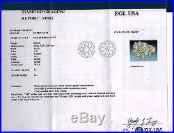 1.62CT ANTIQUE VINTAGE OLD EURO DIAMOND CLUSTER ENGAGEMENT WEDDING RING 14K EGL