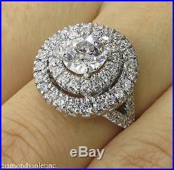1.79ct Antique Vintage Old Euro Diamond Engagement Wedding Ring Plat Egl USA