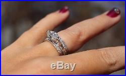 1.97ctw Vintage Style Marquise Engagement Ring Wedding Set by Gabriel & Co