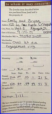 1ct Vintage Oval Diamond Engagement Ring/ 1/2ct Contour Wedding Band