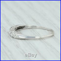 26ctw Diamond Wedding Ring Platinum 14k White Gold Size 6.5 Band Vintage