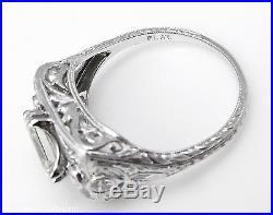 2.04CT ANTIQUE VINTAGE ASSCHER DIAMOND ENGAGEMENT WEDDING RING PLAT EGL USA