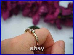 2.10Ct Fire Opal & Red Ruby Vintage Wedding Ring Band 14k Yellow Gold Over
