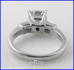 2.24ct Estate Vintage Asscher Diamond Engagement Wedding Ring Plat Egl USA
