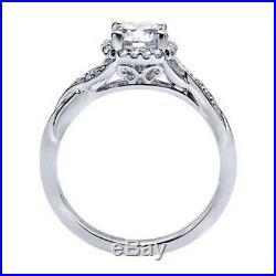 2.25 Ct Round Cut Diamond Vintage Style Engagement Wedding Ring 10k White Gold