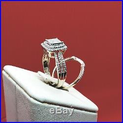 2 Pcs set Ring & Band Rare vintage engagement diamond Gold Ring Wedding Rings
