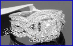 3.40 Crt Wedding/Engagement Ring Women Vintage Bridal Set 10kt White Real Gold