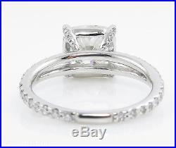 3.71ct Estate Vintage Cushion Diamond Engagement Wedding Ring Plat Egl USA