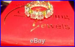 4Ct Round Brilliant Cut Diamond Vintage Eternity Band Ring 14K White Gold Finish
