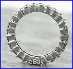 $4,300 Vintage Estate 14K Gold 2.50ctw Square Diamond Eternity Wedding Band Ring