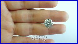 4.48 Carat Round Cut G / VS1 Vintage Wedding Diamond Ring Set 14k White Gold