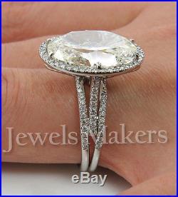 5.03Ct Estate Vintage Oval Diamond Engagement Wedding Ring 925 Sterling Silver