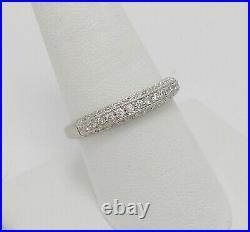 5/8CT Vintage Style Diamond Anniversary Wedding Band Bridal Ring 14K White Gold