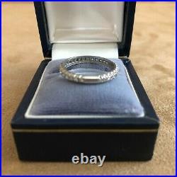 6 3/4 ring platinum gold diamond wedding engagement anniversary vintage band
