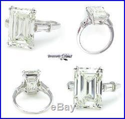 6.87ct Estate Vintage Emerald Cut Diamond Engagement Wedding Ring Egl USA Plat