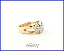 AMAZING 1930's Diamond Vintage Engagement Wedding Set Ring Wide Band 14k Gold