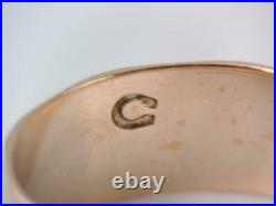 ANTIQUE VICTORIAN WIDE SOLID 10K ROSE GOLD ENGRAVED WEDDING BAND RING sz 6